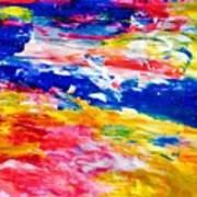 Soft Strokes Aesthetic Sunset Art Print