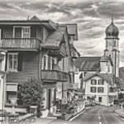 Soft Village Image Art Print