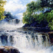 Softly Fall The Swallow Falls Art Print