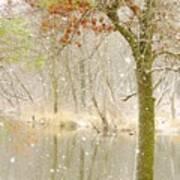 Softly Falls The Snow Art Print by Lori Frisch