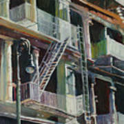 Soho Fire Escapes Art Print