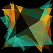 Soil Polygon Pattern Art Print