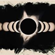 Solar Eclipse Phases 2 Art Print