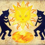 Solar Feline Entity Art Print