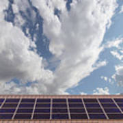 Solar Panels On Roof Top Art Print