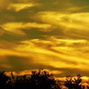 Solar Storm Sunset Art Print