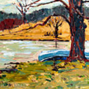 Sold Donnie Myers Pond Art Print by Charlie Spear