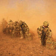 Soldiers In The Dust 4 Art Print