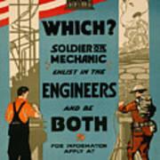 Soldiers Or Mechanic Art Print