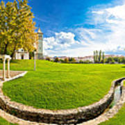 Solin Park And Church Panoramic View Art Print