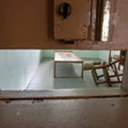 Solitary Confinement Cell Through Door Slat Art Print