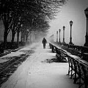Solitary Man In The Snow Art Print