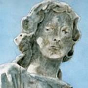 Solitude. A Cemetery Statue Art Print
