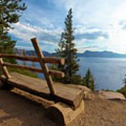 Solitude At Crater Lake Art Print