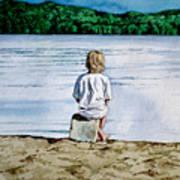 Solitude Upon The Lake Art Print