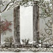 Solorised Pillars Art Print
