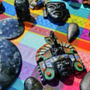 Some Special Dark Black Rocks Art Print