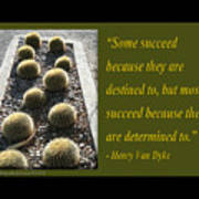 Some Succeed Because They Are Destined To Art Print