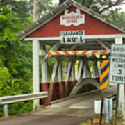 Somerset County Burkholder Covered Bridge Art Print