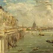 Somerset House Terrace From Waterloo Bridge Art Print