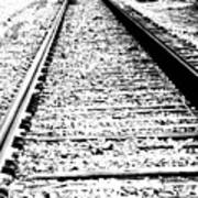 Something About The Railroad Tracks Art Print