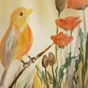 Somewhere In The Poppy Field Art Print
