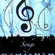Songs - Blue Art Print