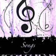 Songs - Purple Art Print
