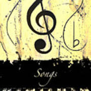 Songs - Yellow Art Print