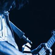 Sonic Blue Guitar Explosions Art Print