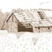 Sonora Barn Print by Pat Price