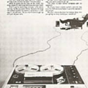Sony Vintage Advert Art Print