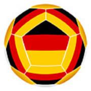Soocer Ball With Germany Flag Art Print
