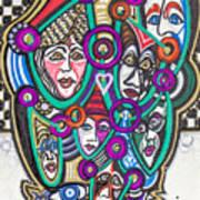 Sooooooo Many Faces Art Print