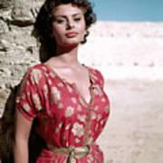 Sophia Loren, 1950s Art Print by Everett