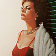 Sophia Loren  Art Print
