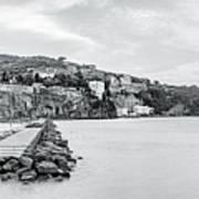 Sorrento Town From Marina Piccola Art Print