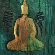 Sotapanna 1 Buddha Painting With Unalome Symbols Art Print