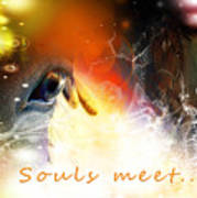 Souls Meet Art Print