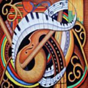 Sound Of Soul Strings Art Print