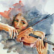 Sound Of Violin... Art Print