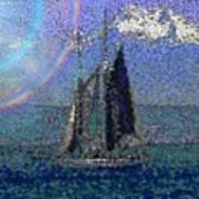 Sound Sailin 5 Art Print