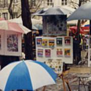 Sous La Parapluie Art Print