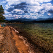 South Beach At Priest Lake Art Print