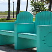 South Beach Bench Art Print