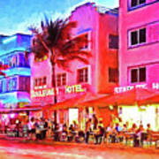 South Beach Neon Art Print