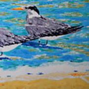 South Beach Visitors Art Print