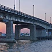 South Capitol Street Bridge Over Anacostia River In Washington Dc Art Print by Brendan Reals