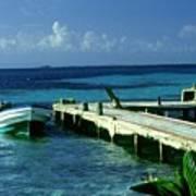 South Caye Belize Boat Dock Art Print