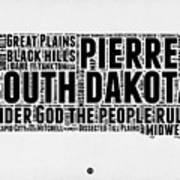 South Dakota Word Cloud 1 Art Print